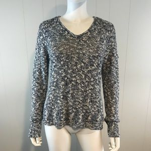 CHAPS Women's Medium Blue White Sweater